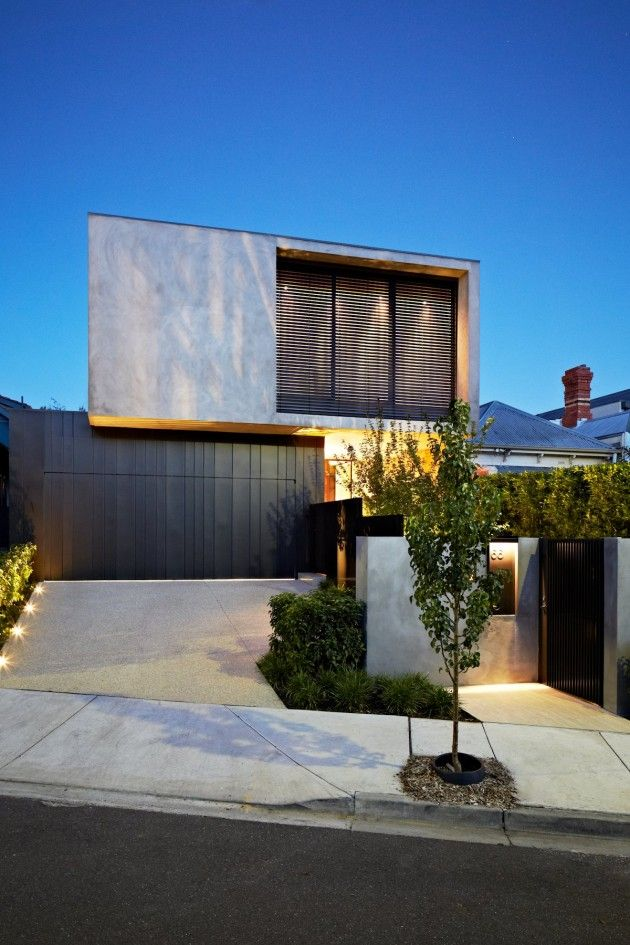 Maison contemporaine aux allures industrielles Architecture - facade de maison contemporaine