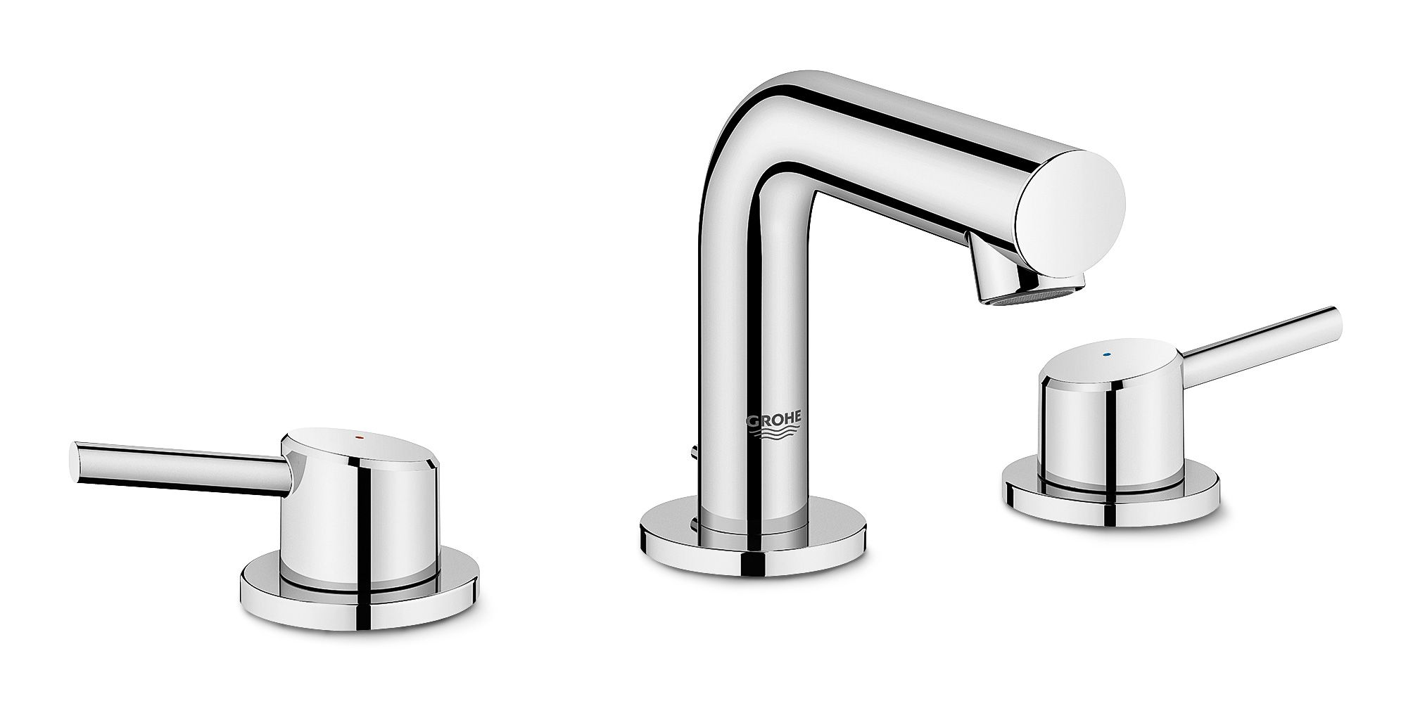 The Lever Handles On This 1 2 Gallon Per Minute Grohe Faucet Make