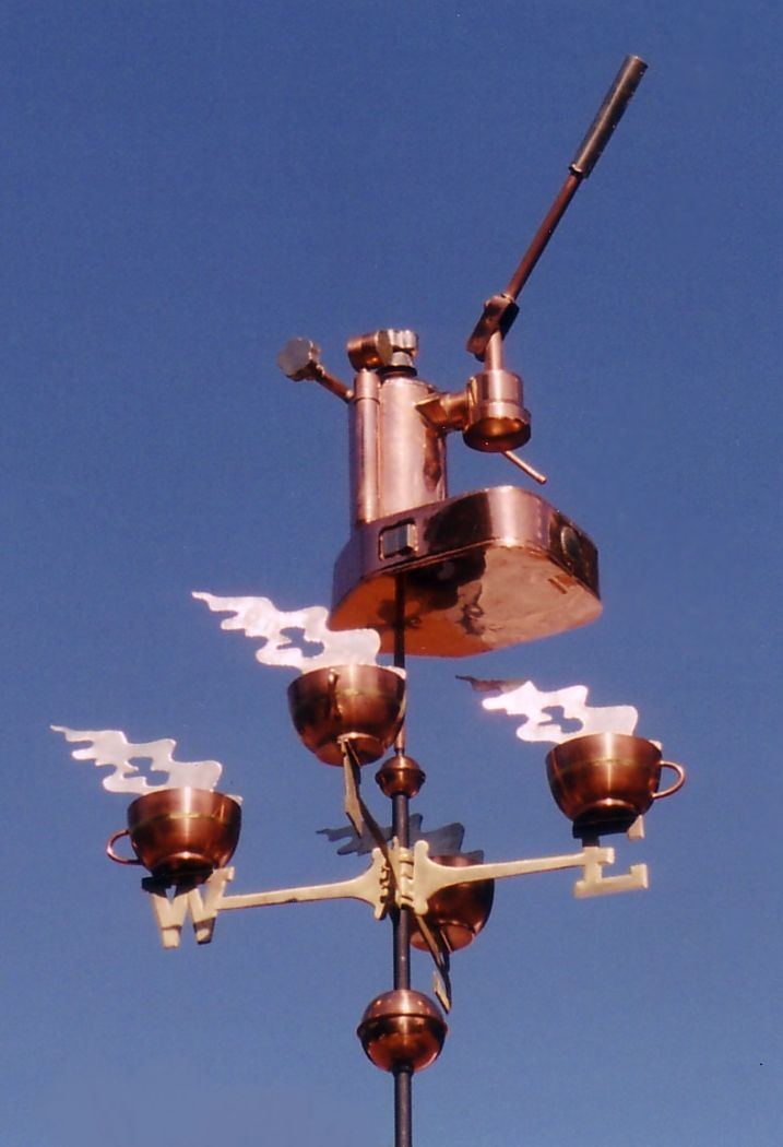 Expresso Machine Weathervane With Cups By West Coast