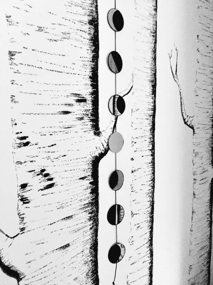 DIY Moon Phases Wall Hanging DIY Moon Phases Wall Hanging- How to create this gorgeous wall hanging moon phase decor easily and on a budget. It's a great way to decorate your home with a bit of the night sky, and a fun project to make! diy  diy wall art   moon phases   diy home decor  