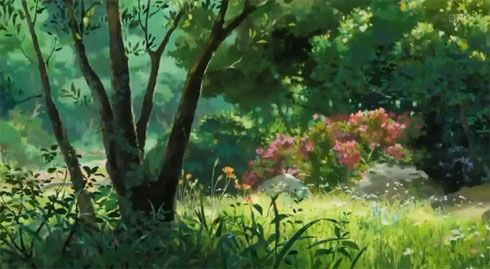The scenery in the Studio Ghibli movies never ceases to