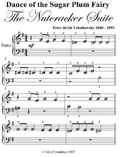Dance Of The Sugar Plum Fairy Nutcracker Suite Beginner Piano