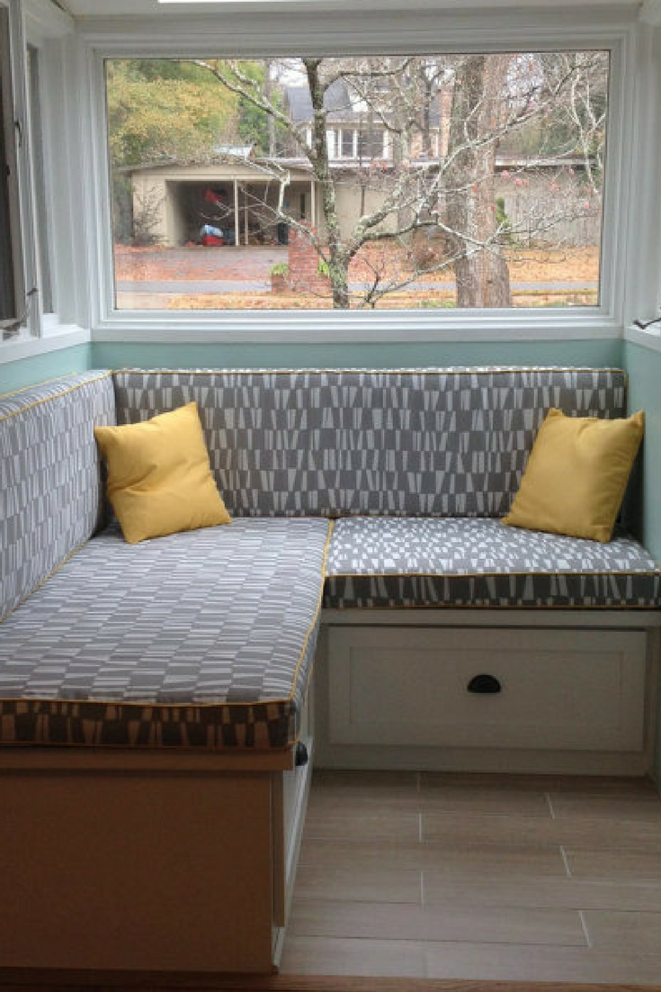 Custom Window Seat Cushion Mudroom Bench Nook Kitchen Banquette Chair Pad Ad Windowseat