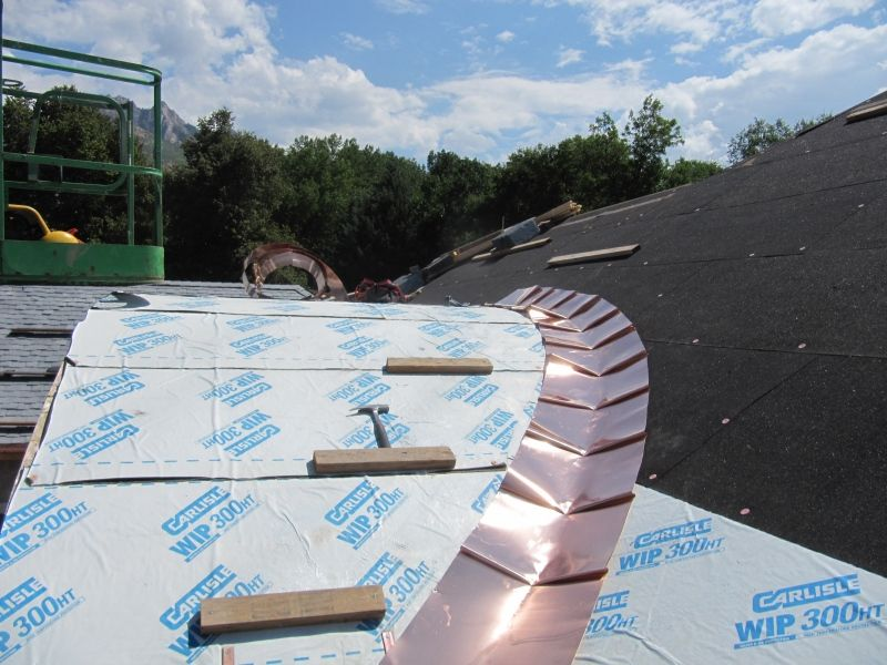 Continuous Round Metal Roof Valley Fine Metal Roof Tech Copper Metal Roof Metal Roof Roof Cladding