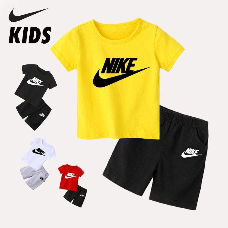 Nike Verano Camiseta Para Niño Ropa Para Niña Conjuntos De Ropa De Algodón De Manga Corta Trajes Deportivos Para Niños De 2 A 10 Años Conjuntos De Ropa Ropa Para Niñas Trajes Deportivos