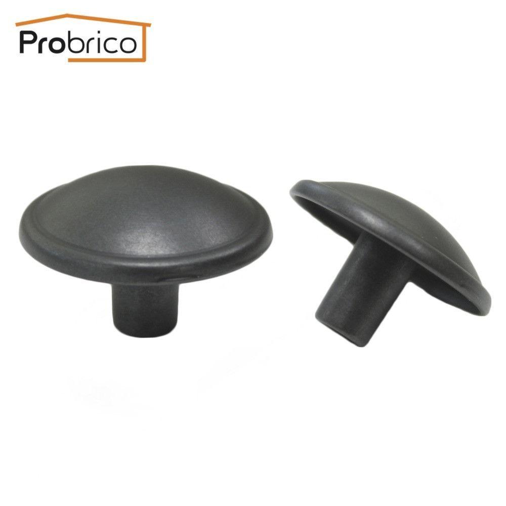 Probrico Wholesale 100 PCS Vintage Furniture Drawer Knob PS87141BLAE Zinc Alloy Antique Black Kitchen Cabinet Handle Pull