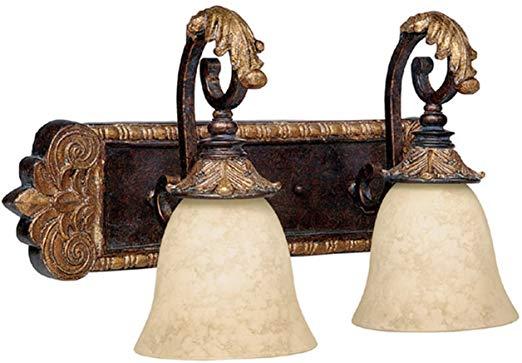 Photo of Capital Lighting 1462GL-276 2-light bathroom mixer, bronze with …