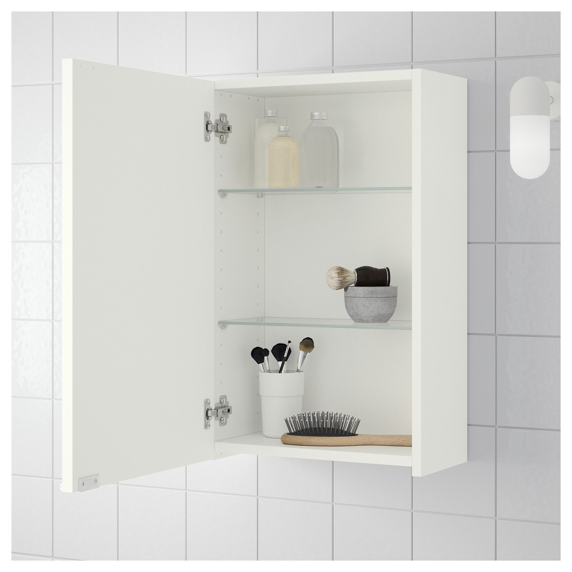 LILLÅNGEN Wall cabinet White 40x21x64 cm | Walls and Spaces