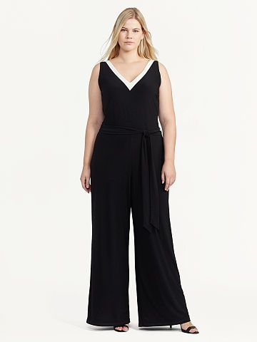 4c973fbb883 Jersey Wide-Leg Jumpsuit - Lauren Woman Jumpsuits - RalphLauren.com ...