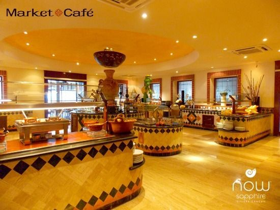 The Market Cafe At Now Sapphire Riviera Cancun Is An International Buffet In Air Conditioned Dining Area It Seats 330 Guests And Dress Code