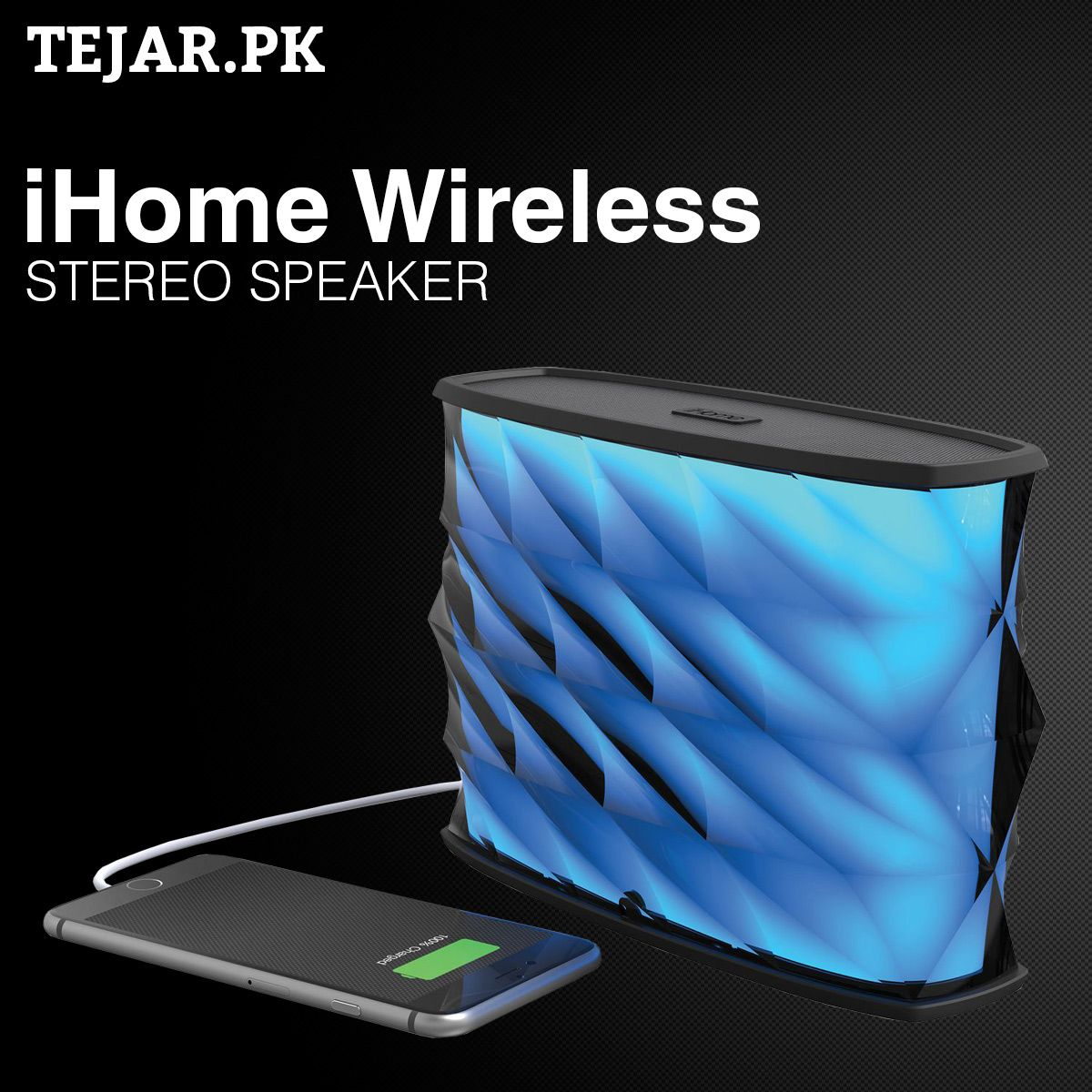 iHome iBT84 Wireless Stereo Speaker + Built-In Power Bank   Wireless ...