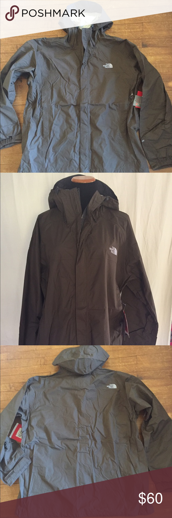 "North Face Venture Waterproof Jacket New with tags! 100% nylon. Waterproof, breathable, and lightweight. Zip pockets, zip front, and Velcro front closure. Length: 30""/Chest: 26""/Arms: 26"". The North Face Jackets & Coats"
