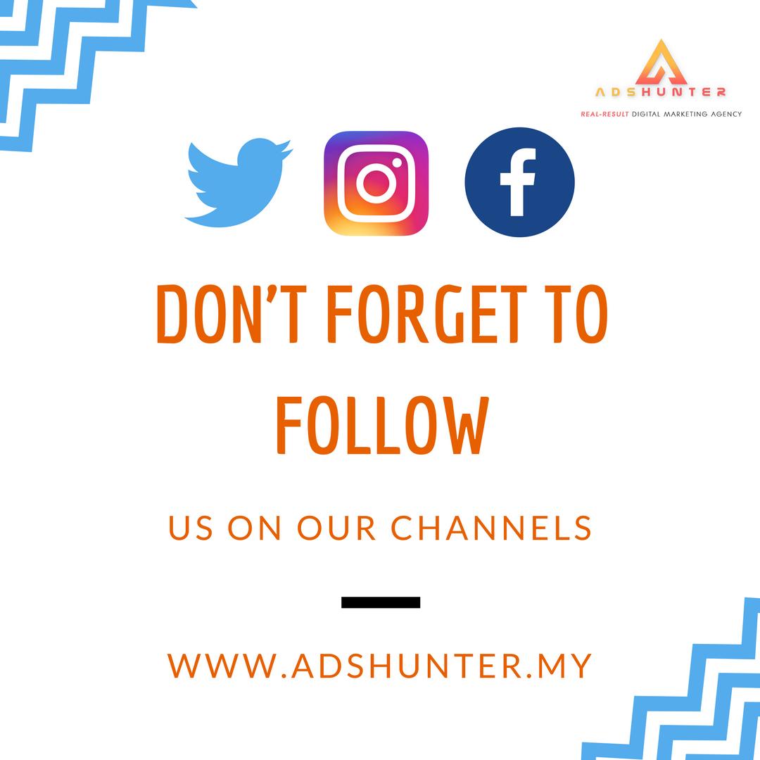 Follow Us On These Social Media Twitter Adshuntermy Facebook Adshunter Instagram Adshunter My Adshunter Digitalmarketing Onlinemarketing Social