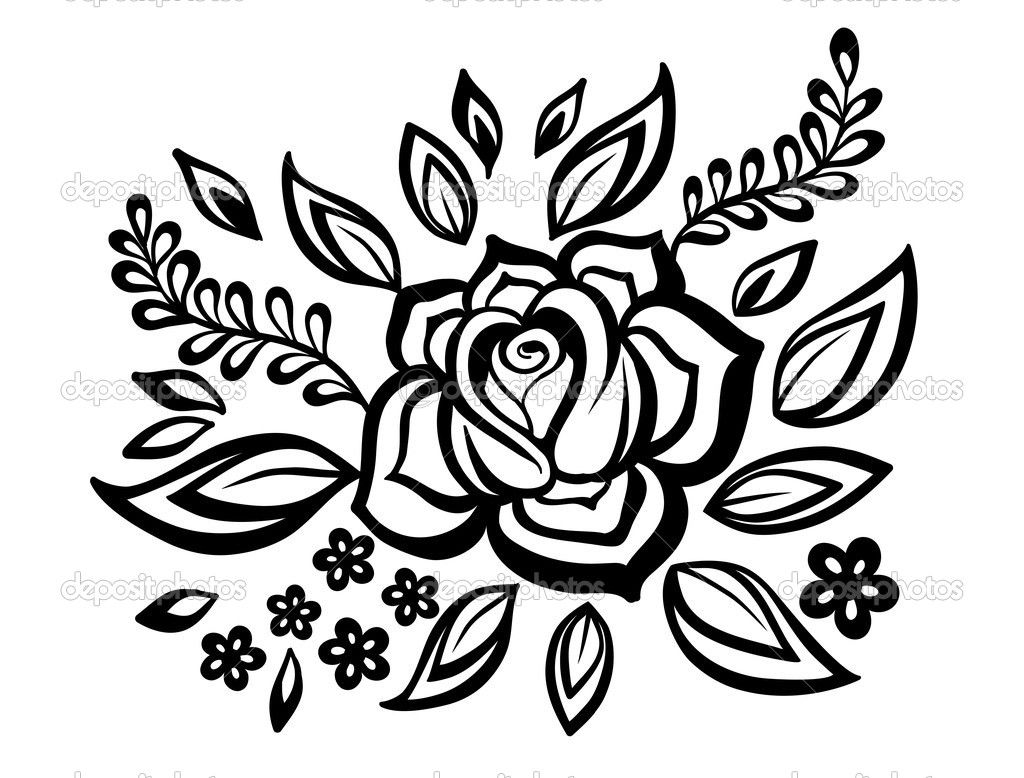 Flowers With Beautiful Design | Drawing And Coloring For Kids