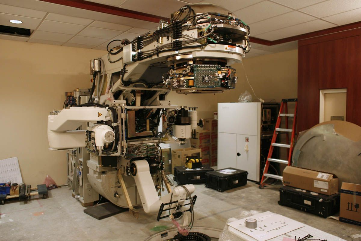 The Inside Of A Radiation Therapy Linear Accelerator Radiation