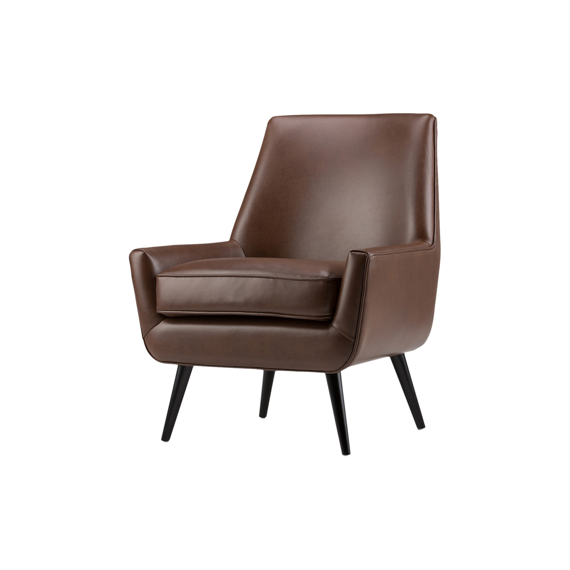 30 carson mid century accent chair saddle brown faux air