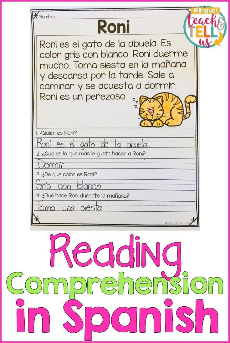 lectura de comprensi n en espa ol reading comprehension in spanish 1st 2nd grade spanish. Black Bedroom Furniture Sets. Home Design Ideas