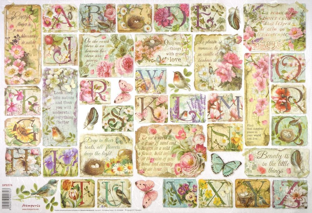 Rice Paper 33x49cm Garland /& Flowers for Decoupage Craft