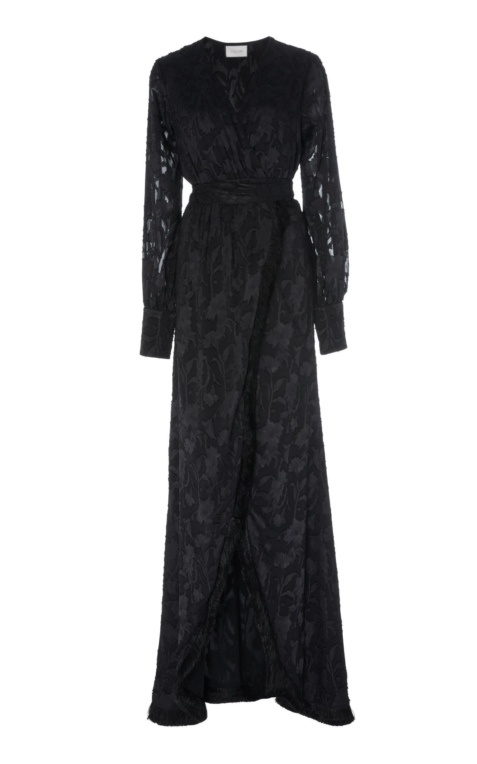 Antonella Fringed Devore Satin Wrap Maxi Dress By Alexis Now Available On Moda Operandi Fashion Dresses Dresses Long Cocktail Dress [ 2560 x 1598 Pixel ]