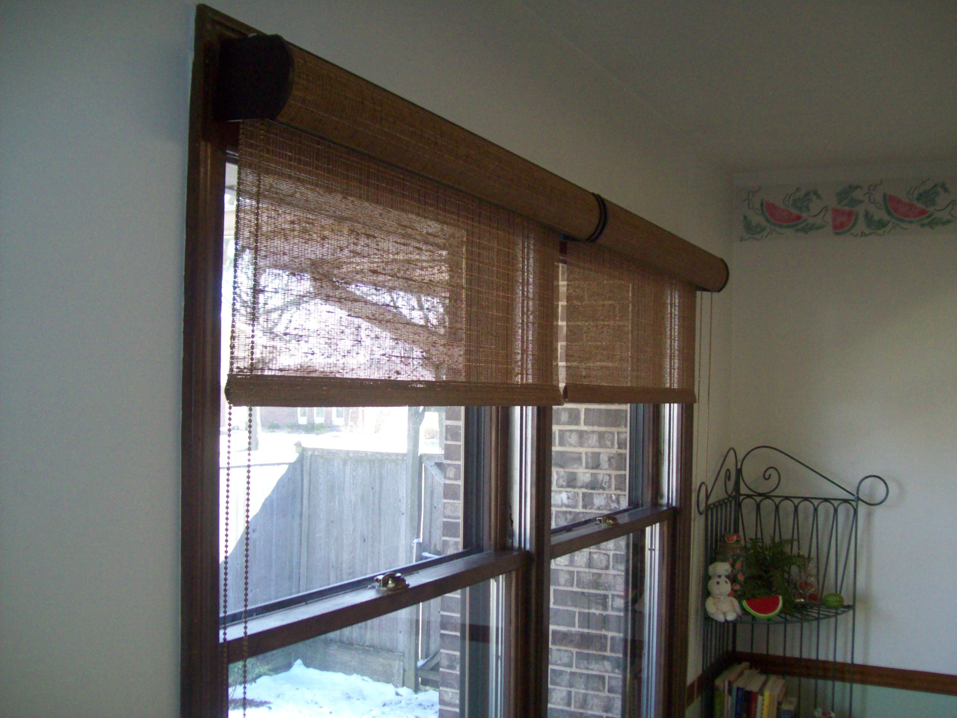 Woven Wood Solar Shades With Cassettes Solar Shades In
