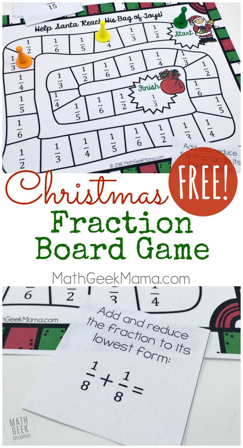 picture about Printable Fraction Games identify Xmas Themed Printable Portion Match Cost-free 5th quality