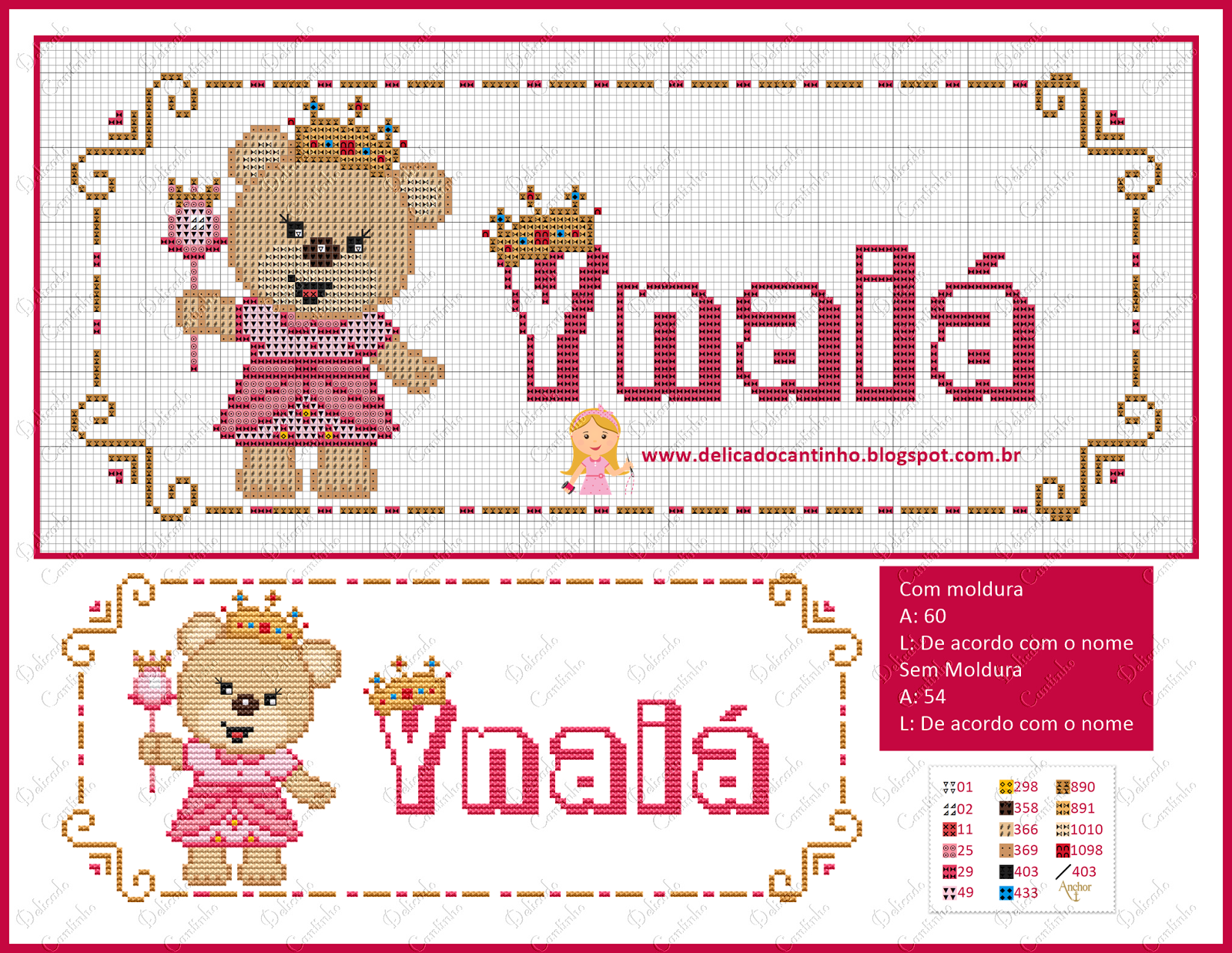 Pin de Silvia Feliz en ABC Y NOMBRES | Cross stitch baby, Cross ...