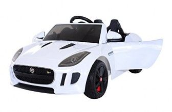 Aosom 12v Jaguar F Type Convertible Kids Electric Ride On Car With Mp3 And Remote Control White Jaguar F Type Kids Ride On Ride On Toys