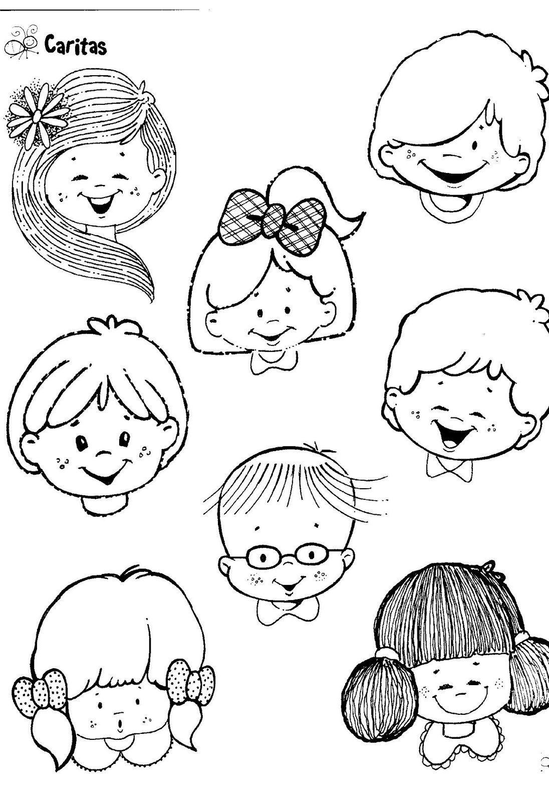 Fichas Infantiles: Caritas para colorear e imprimir | Actividades ...