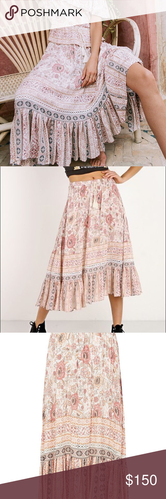 0a7e665d0 Spell Gypsy Zahara Midi Skirt Rosewater Small NWT Brand new with tags. Will  consider Spell trades... Spell & The Gypsy Collective Skirts Midi