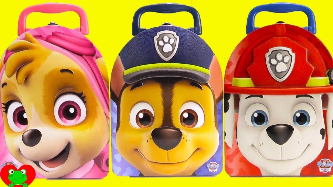 Paw Patrol Chase, Skye, Marshall Surprise Tins | Paw Patrol