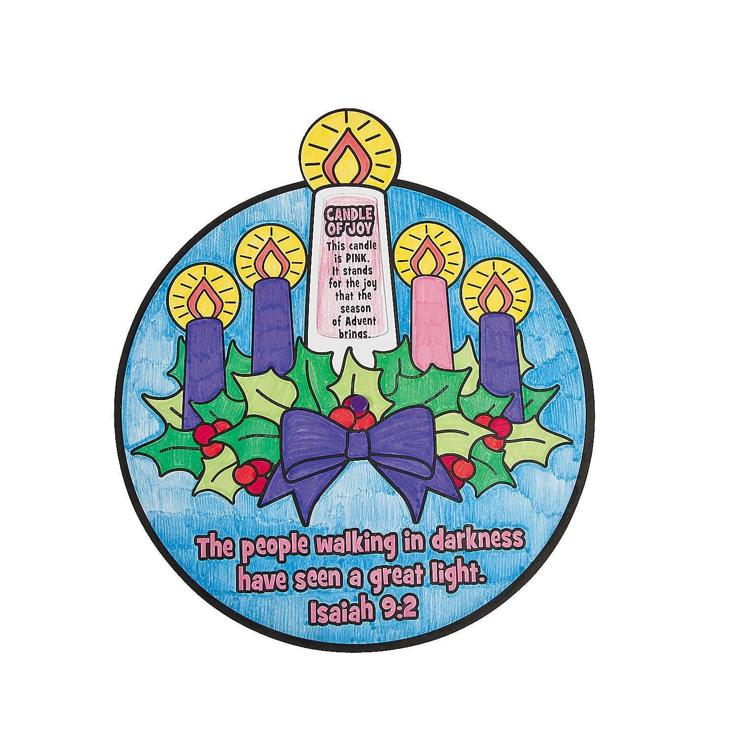 Color Your Own Religious Christmas Ornaments: COMPLETED. Color Your Own Advent Wheel