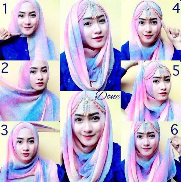 Contoh Tutorial Hijab Elegan Untuk Pesta Terbaru 2016 Kumpulan Tutorial Hijab Wisuda Tutorial Hijab Pesta Simple Hijab Tutorial