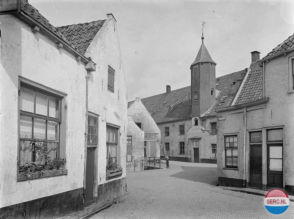 Amersfoort: De Appelmarkt en het Sluisje op de achtergrond (1916)