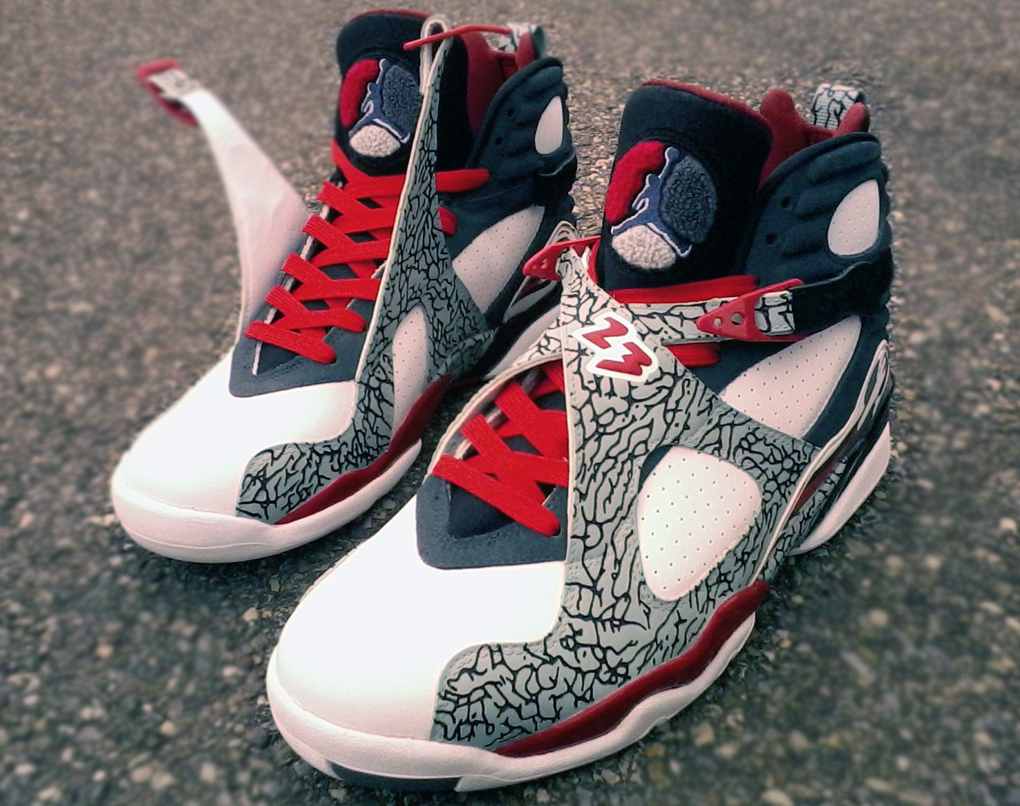 "Air Jordan VIII ""Elephant Print"" Customs by Mr."