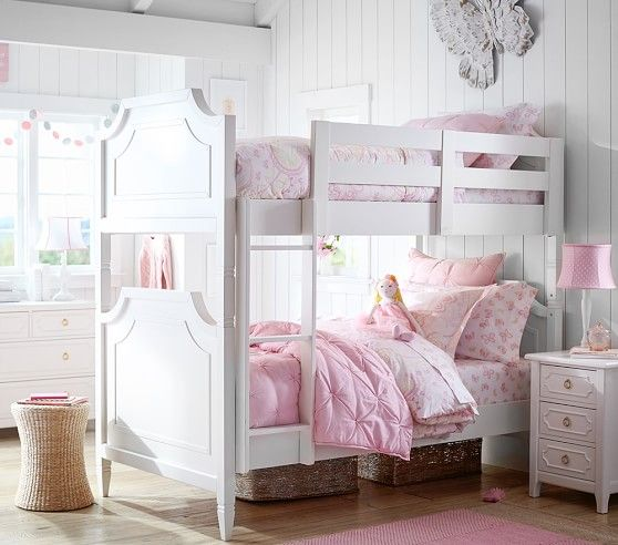 Ava Regency Twin Over Twin Bunk Bed With Images Twin Girls