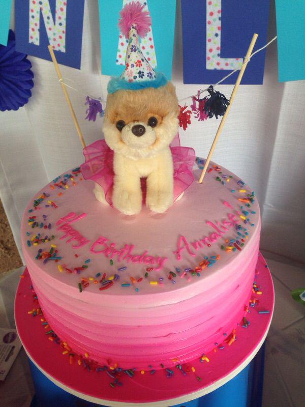 BOO The Dog Birthday Cake