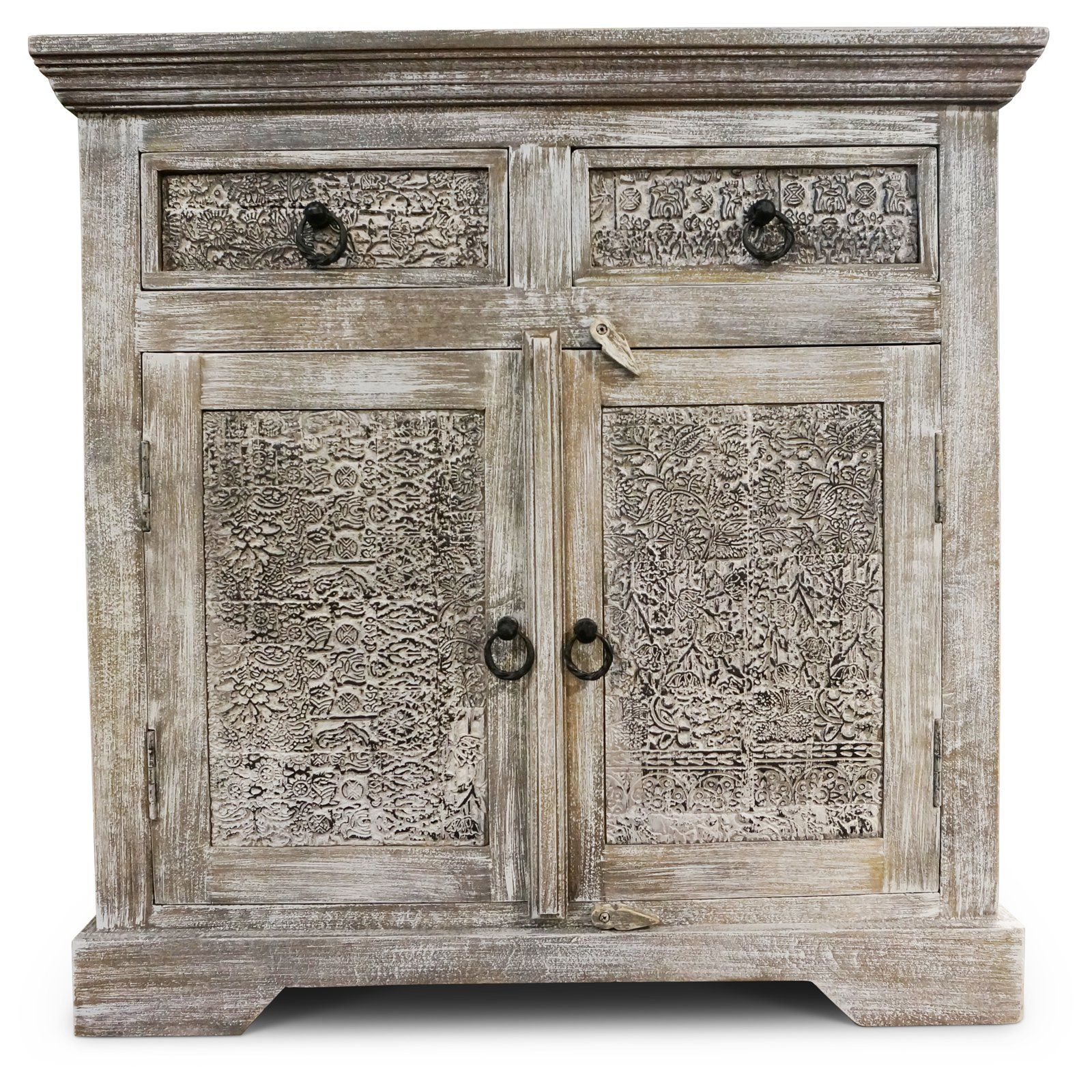 Steve Silver Co. Krishna Weathered 2 Door Cabinet   from ...