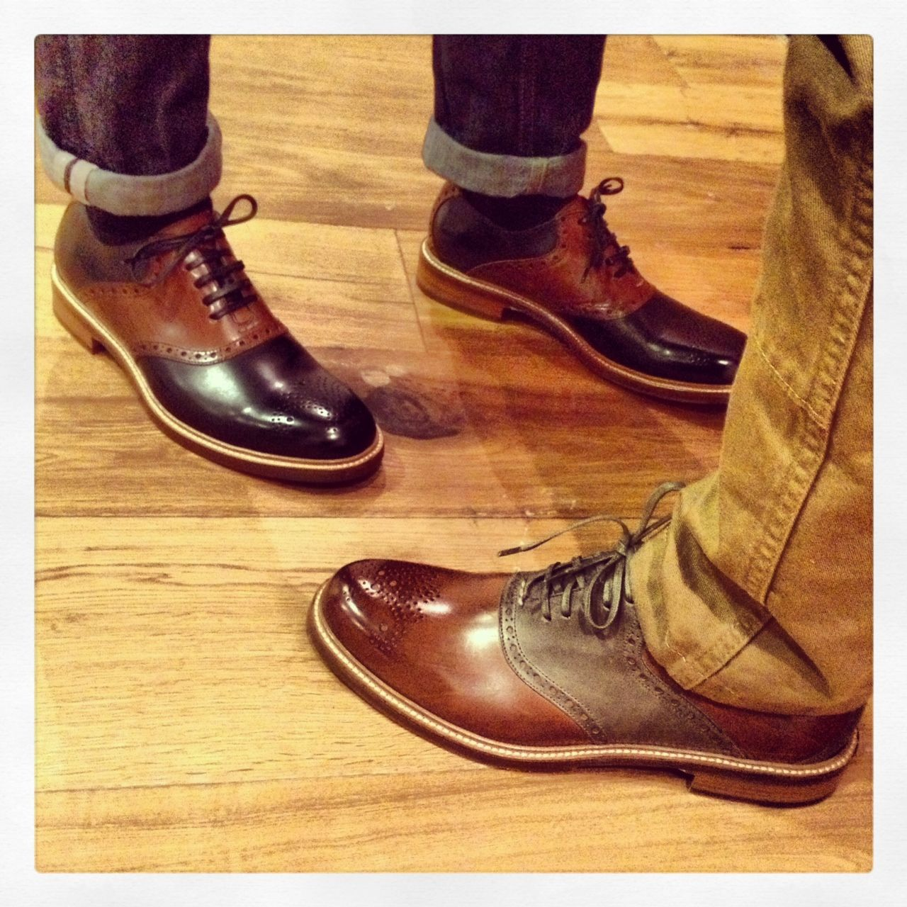 Cole Haan Ellwood Saddle. Made in Italy