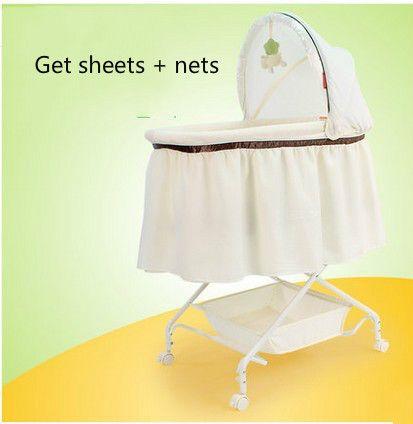 Newborn baby crib bed shaker cradle multifunction portable baby bed ...