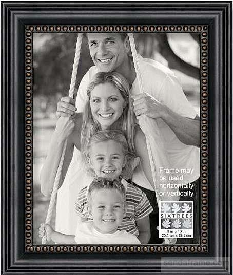 Black And Gold Beaded Border Frame 8x10 By Sixtrees Picture Frames