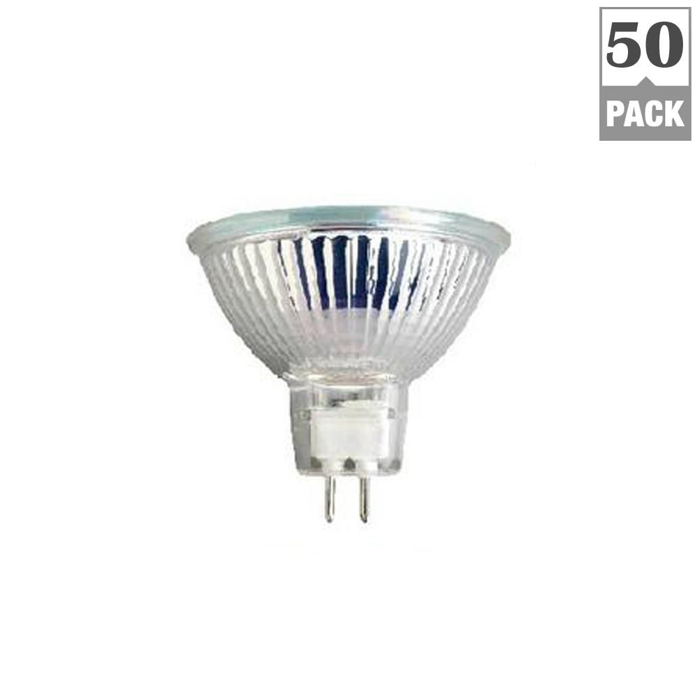 Triglow 50 Watt Mr16 With Cover 38 Degree Beam Angle Clear Halogen