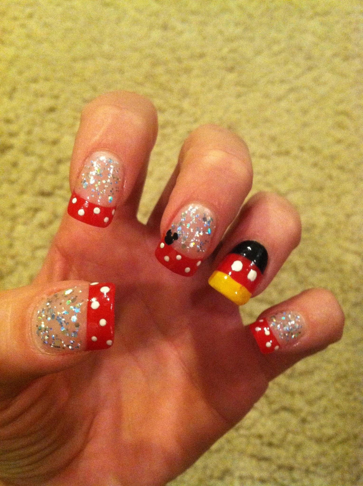 Disney nails - like the ring finger for my big toe - the others just ...