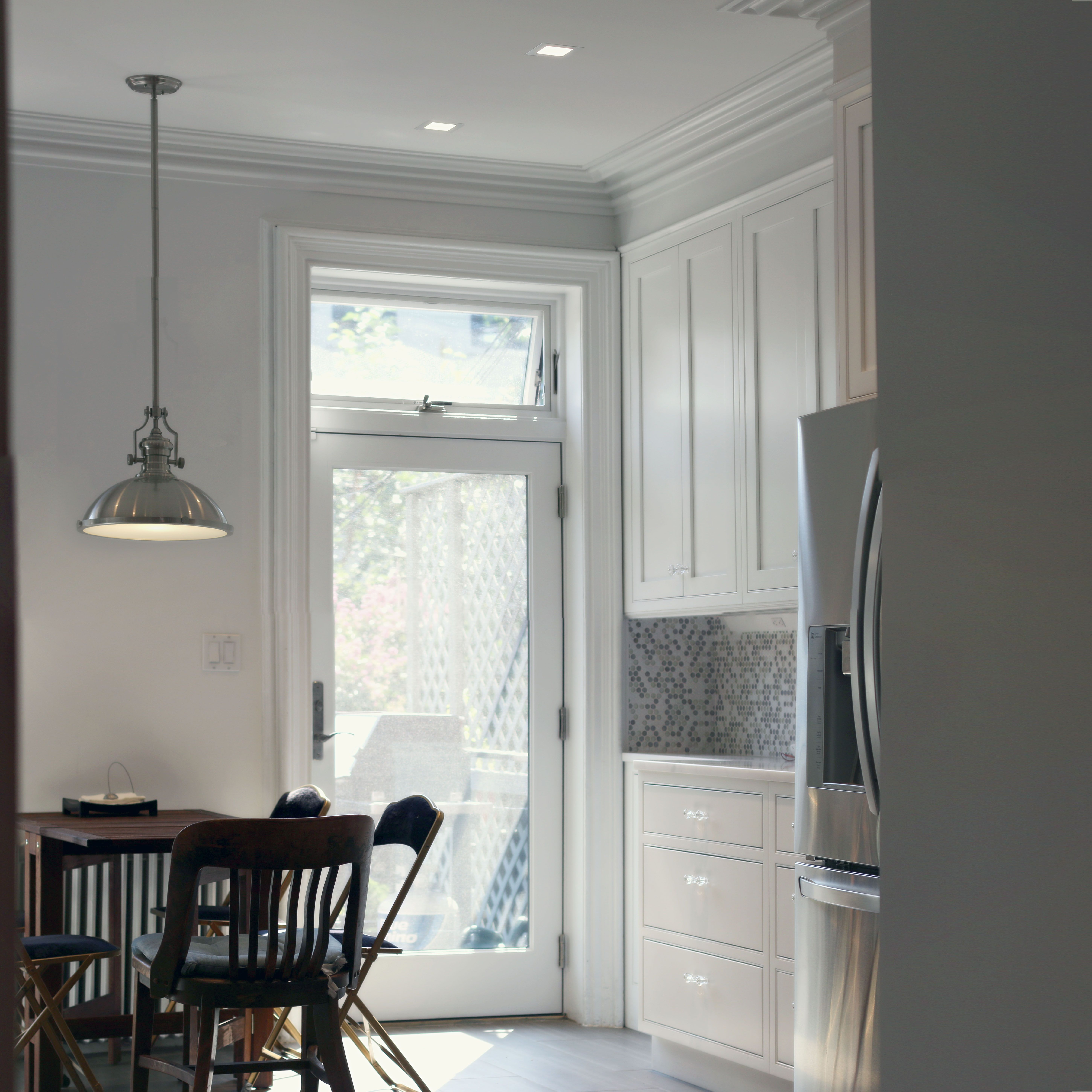 view of the new kitchen at a renovated brownstone in ...