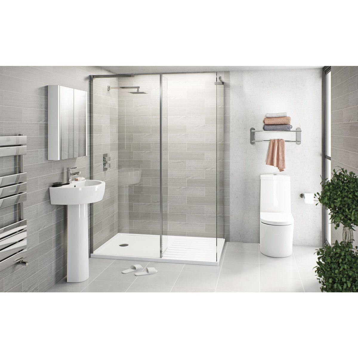Click Here To Find Out More About Mode Tate Ensuite Suite With Enclosure And Tray 589 Shower Enclosure Walk In Shower Enclosures Small Bathroom Solutions