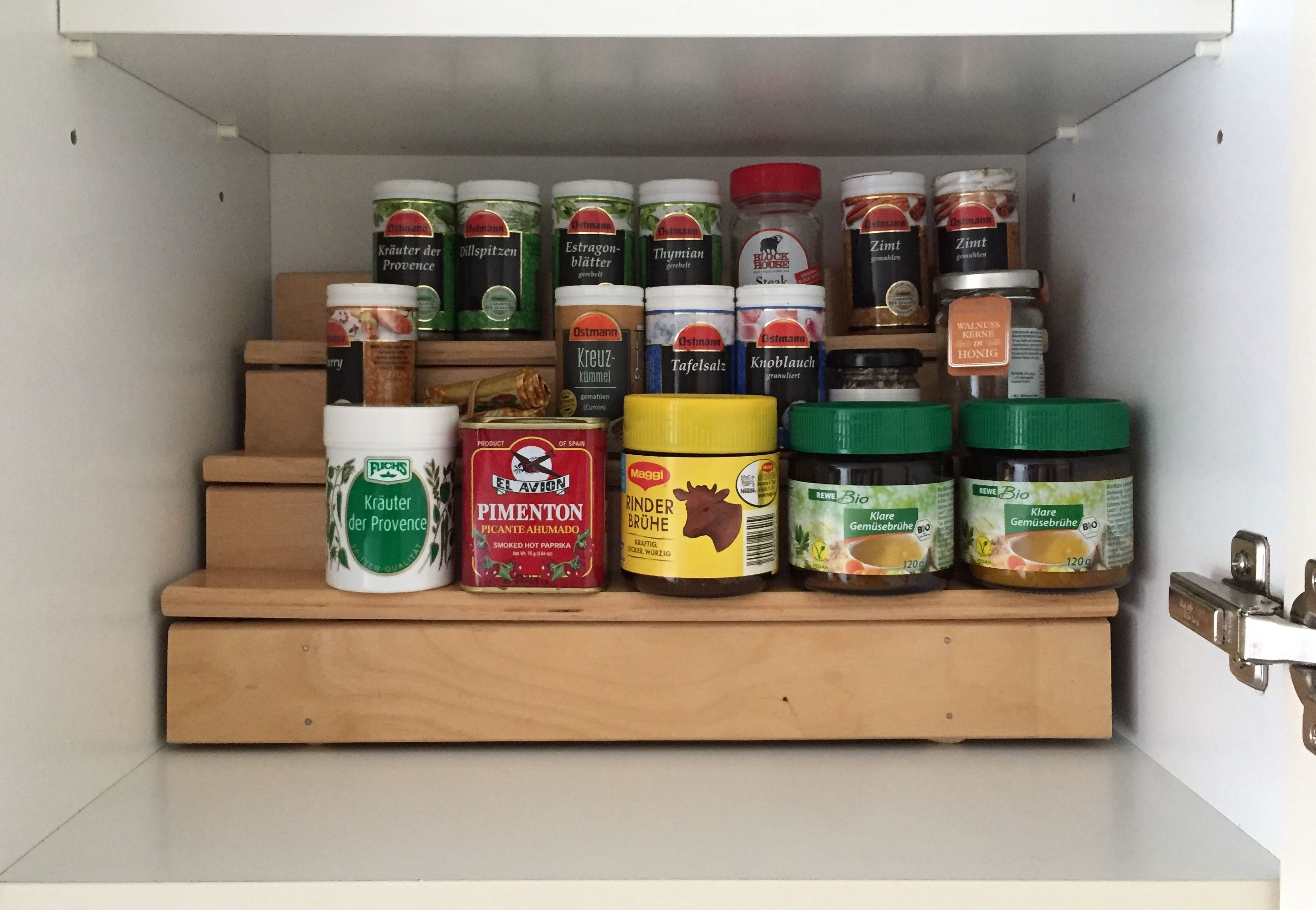 Upcycling Old Slatted Frame To Kitchen Herbs Spices Rack