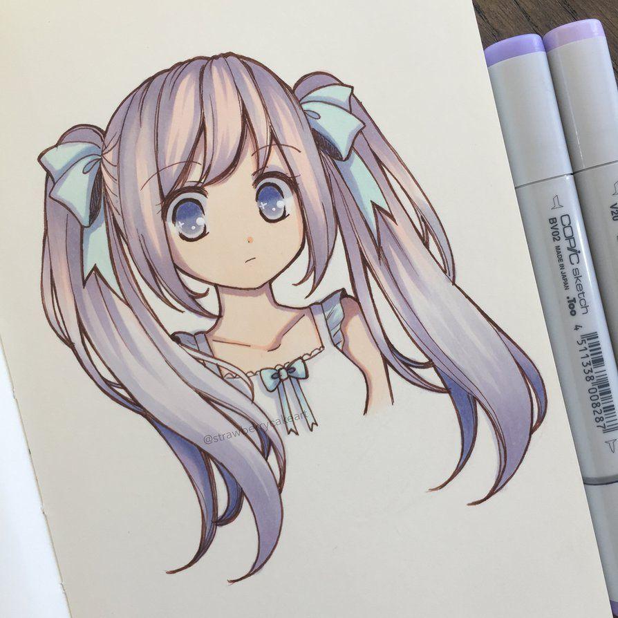 Рисунки для скетчбука в стиле аниме