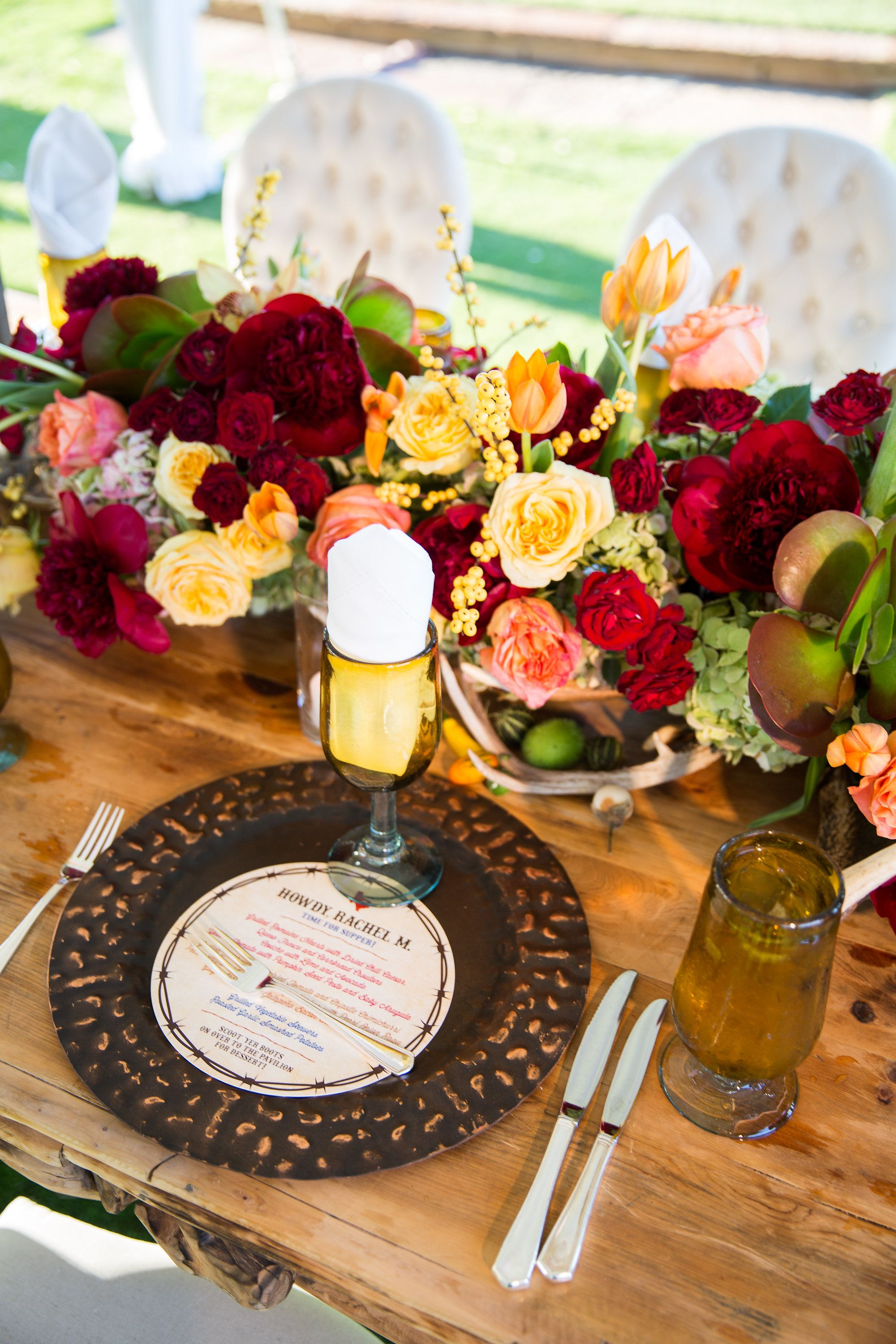 Outdoor tented dinner reception johncain Photography