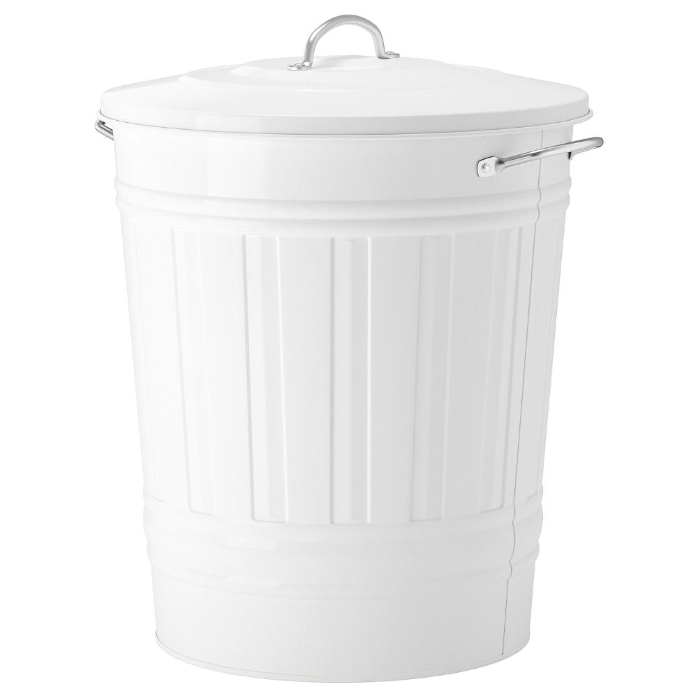 Ikea Knodd White Bin With Lid Ikea Can Storage Sink Accessories