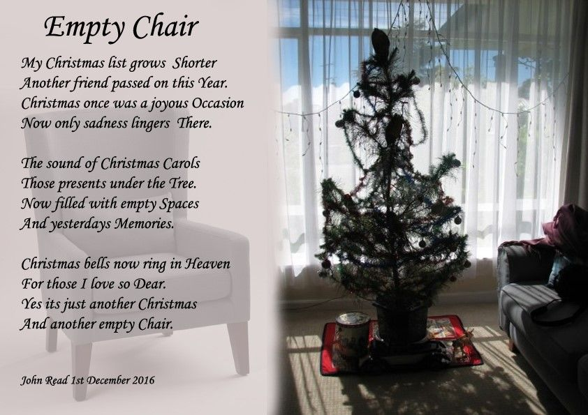Empty Chair Holiday Poems Holiday Poems Loved One In Heaven Poems