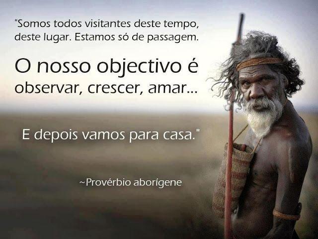 Provérbio Aborígine